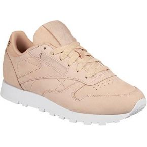 28b56f91a459 Reebok cl leather nude nbk w chaussures rose.