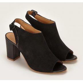 Sandales en cuir palavas noir fabriquées au...