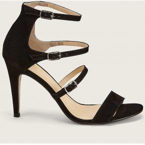 Sandales en cuir avec brides toyo noir -...