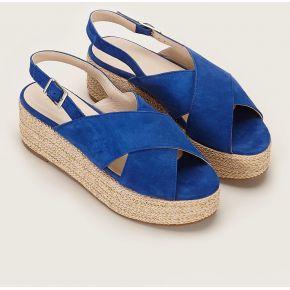 Sandales en cuir nice bleu électrique...