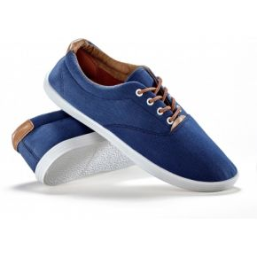 Blancheporte-femme marine sneakers toile lacets