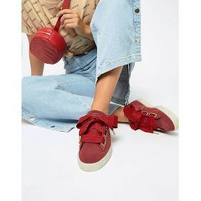 Femme puma - baskets en daim motif cœurs -...