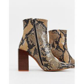 Femme depp - bottes en cuir à talons carrés -...