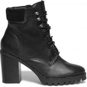 Boots cranté noir à lacet noir eram