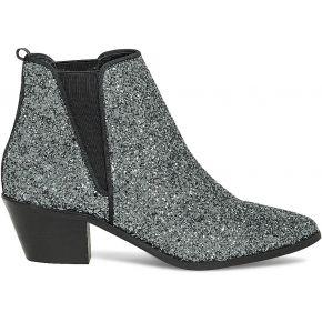 Chelsea boots paillettes argentées gris eram