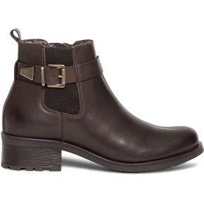 Boots marron en cuir fourré marron eram