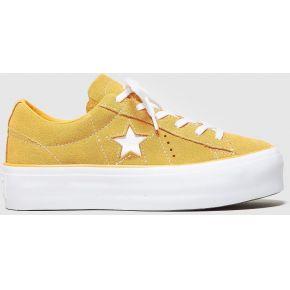 Converse one star platform femme, orange