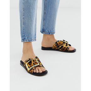 Femme river island - sandales en cuir à imprimé...