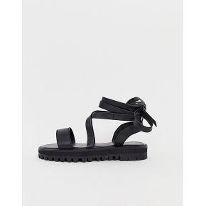 Femme asos design - faster - sandales en cuir à...