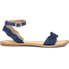 Sandale bleu marine en cuir velours marine eram