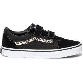 Tennis vans noire et léopard noir vans