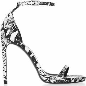Sandales en cuir effet lézard jane