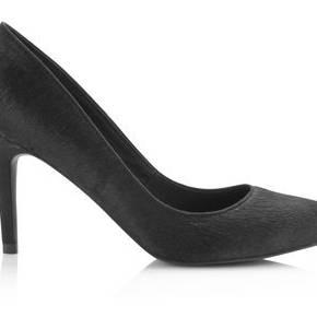 Escarpins en cuir aspect poilu premium femme -...