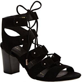 Moda in pelle marcio, sandales femme - noir -...