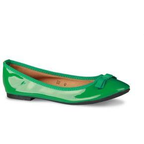 Ballerine femme saumon ou verte aspect brillant...