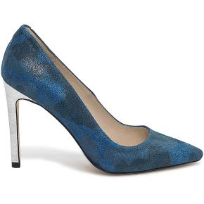 Escarpin noyce imprimé camouflage bleu