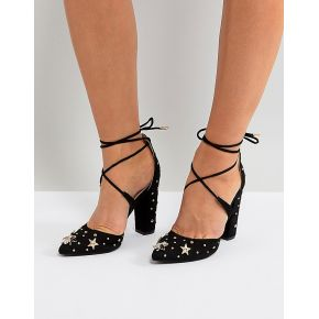 Femme glamorous - chaussures ornementées à...