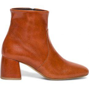 Boots brique en cuir verni orange eram