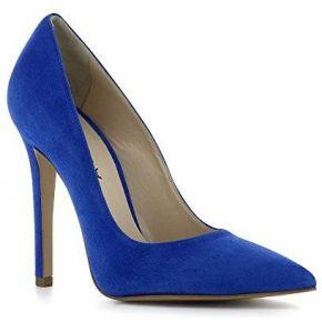 Lisa escarpins femme daim bleu royal 37