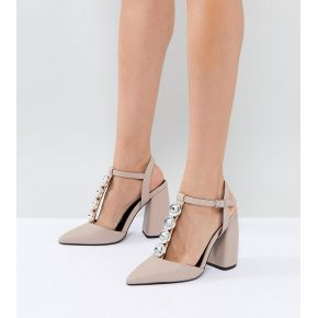 Femme asos - peacock - chaussures ornementées à...