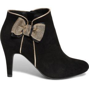 Boots à talon noir avec nœud or noir eram