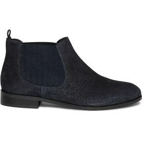 Chelsea boots marine en cuir velours pailleté...