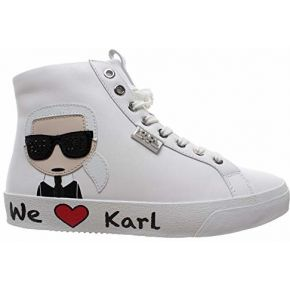 Karl lagerfeld skool karl ikonic hi lace blanc...