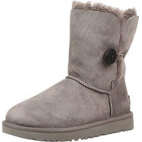 Ugg female bailey button ii classic boot, grey,...