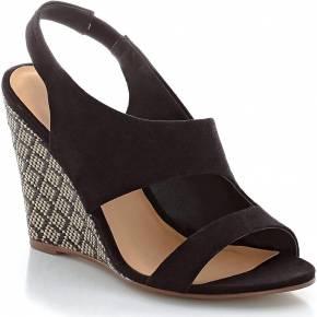 Sandales à talons compensés en rafia. les...