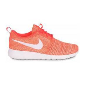 Baskets/running roshe run flyknit orange femme...