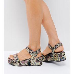 Femme asos - toucan - sandales compensées - multi