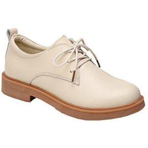 Kotzeb chaussure de femme faux cuir à lacets...