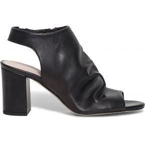 Sandale couvrante noire en cuir noir eram