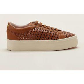 Sneakers tressées plato bridge marron - no...