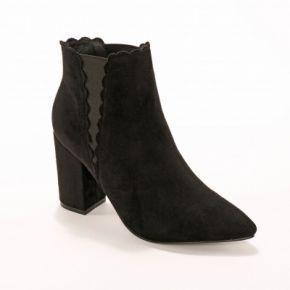 Blancheporte-femme noir boots élastiquées...
