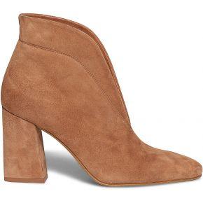 Boots camel en cuir velours fendu camel eram