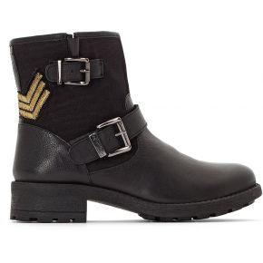 Boots cuir lakao feminin noir les tropeziennes...