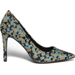 Escarpin stiletto graphique multicolore imprime...