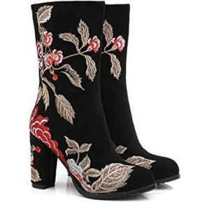 Mei&s bottes femmes chaussures nu broderie...