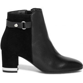 Boots noir cuir a talon miroir noir eram