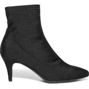 Boots chaussette noir à petit talon noir eram