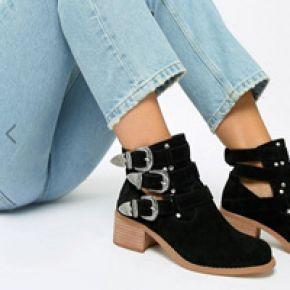 Femme asos design - blair - bottines en cuir à...