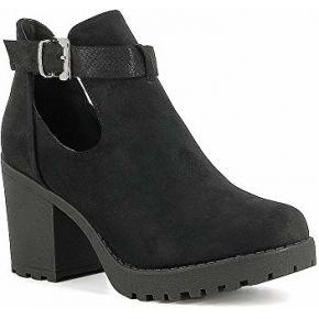 Misstic - boots ajourées à talon en suédine