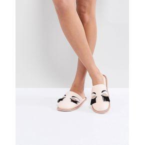 Femme carvela - chaussons motif œil fermé - rose
