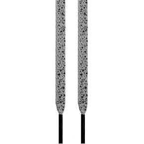 Lacets plats gris cement noirs 145 cm