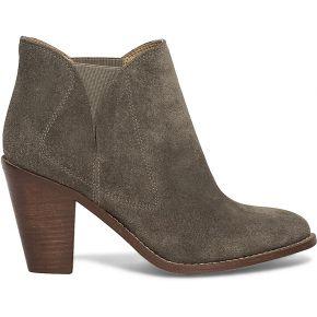 Boots croûte de cuir taupe
