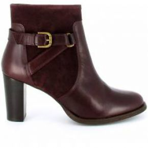 Bottines jade bordeaux