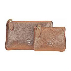 Lot pochettes cuir bronze briny mila louise...