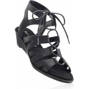 Sandales compensées noir avec 4 cm talon...