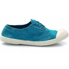 Bensimon tennis à lacets. bensimon bleu turquoise
